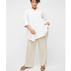 NWT CATHERINES Linen Blend Pull On Pant